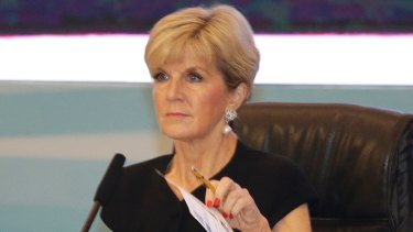 Australian Foreign Minister Julie Bishop said the PNG request came as a surprise.