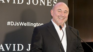 Ian Moir warned shareholders in late 2016 to expect 'substantial losses' as it invests in rolling-out the David Jones food business.