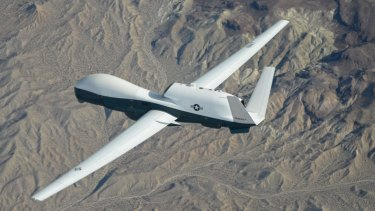 Australia's new spy plane: The Northrop Grumman-built Triton unmanned aircraft.