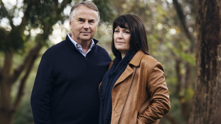 Ralph Kelly with his wife Kathy Kelly, parents of Thomas Kelly, who died in Kings Cross, the victim of a king hit/coward punch in 2012.