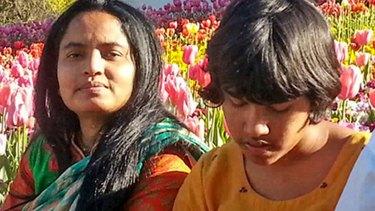 Dr Nasrin Haque, left, with her daughter Sumaya.
