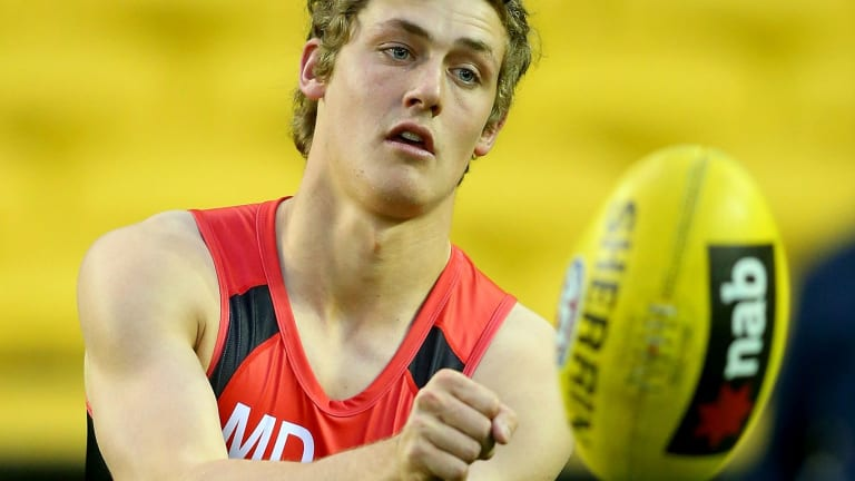 A natural footballer: Harry Perryman is eager to make his AFL debut on Saturday.