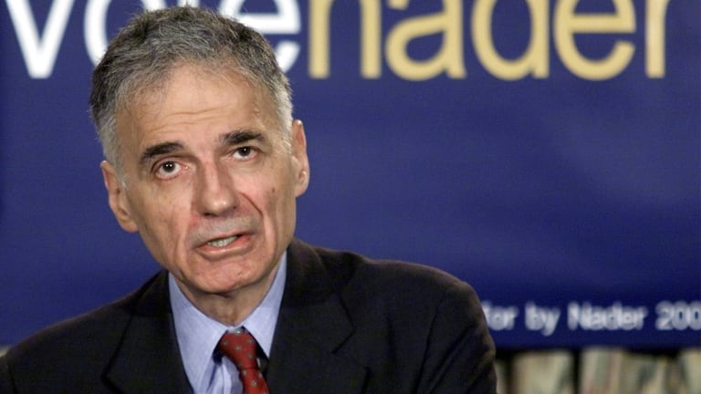 Consumer advocate, whistleblower and former political candidate Ralph Nader.