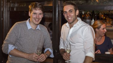 Tom Walenkamp (left) and Banjo Harris  are backing subscriptions backed by data.