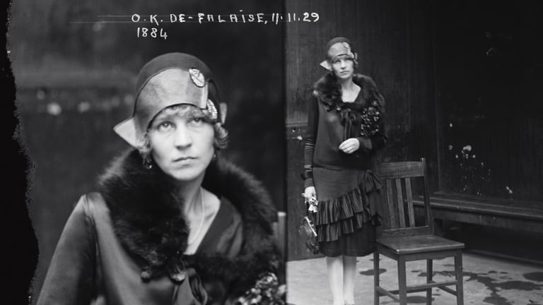 Suspect Olga Anderson (alias the Marchioness de Falaise), November 11, 1929.
