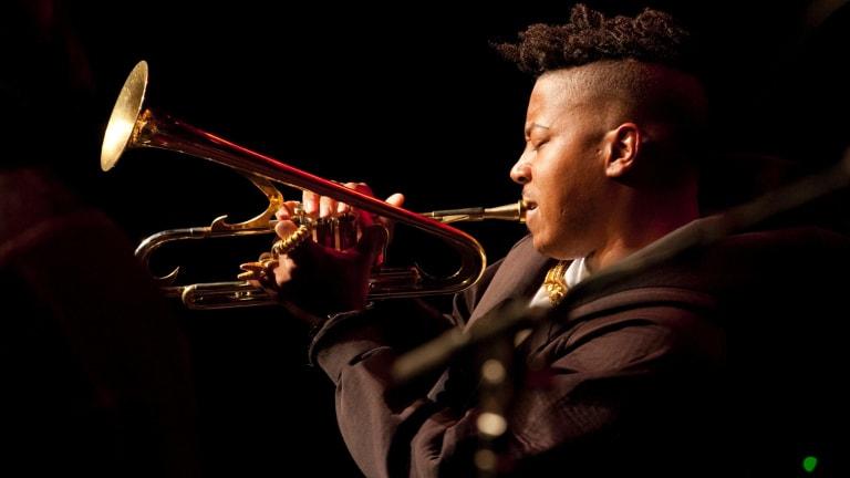 Dazzling: American trumpeter Christian Scott.