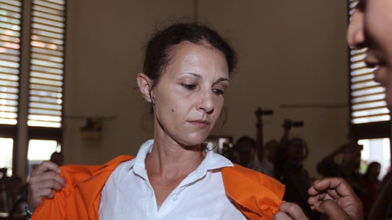 Sara Connor prepares for her verdict trial in Bali on Monday.