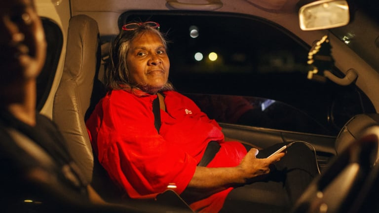 Maxine Gore, an Aboriginal elder in Kununurra, who, with the help of Save the Children, set up a late night bus for the Indigenous youth of Kununurra.