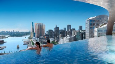 The $700 million Zhengtang Group investment into the Ribbon development in Darling Harbour, Sydney, is expected to be a hotel.