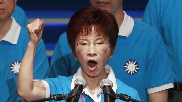 Ms Hung addressing Nationalist Party members earlier this month.