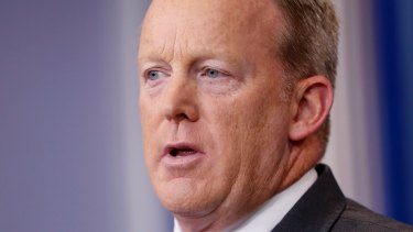 Former White House press secretary Sean Spicer did not explain the discrepancy in his public statements over the Rich case.