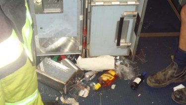After the A330's first nosedive, items from unsecured meal and drinks trolleys were thrown about the galley.