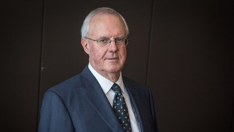 Murray Goulburn chairman John Spark after the AGM in Melbourne.