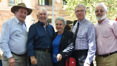 Members of the Concerned Titles Group: Ian McCormack, Barry O'Malley, Margaret Hole, Noel Benham and Bruce Langley.