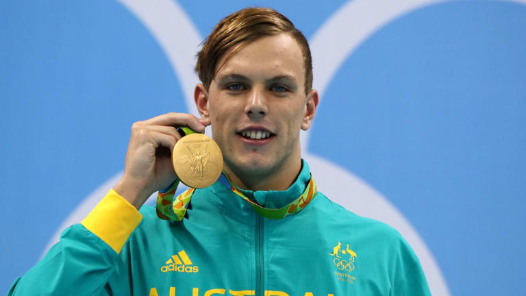 The men's 100m freestyle champion Australian Kyle Chalmers saved Australia's blushes in the pool.