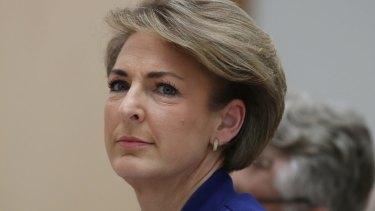 Embattled: Employment Minister Michaelia Cash.