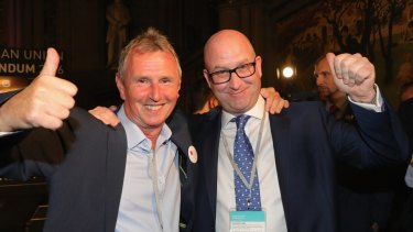 Paul Nuttal MEP (right) and Nigel Evans MP.