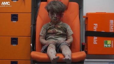 Syrian boy Omran Daqneesh, seen here in footage from the pro-rebel Aleppo Media Centre, is one of many civilians rescued with the help of Syrian Civil Defence, also known as the White Helmets.