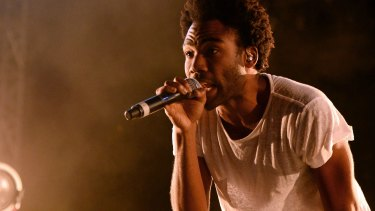 Donald Glover as recording artist Childish Gambino performing in Las Vegas.