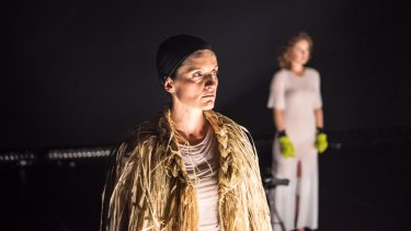 Luisa Hastings Edge in The Rabble's production <i>Joan</i>.