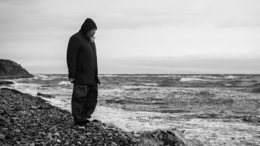 Artist Ai Wei Wei on Lesbos in 2016