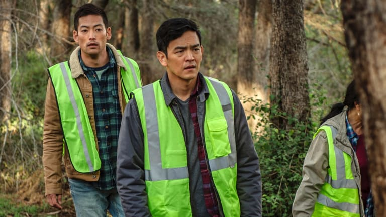 Joseph Lee, left, and John Cho star in Searching.