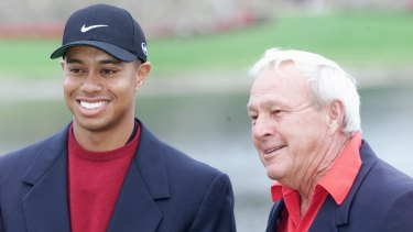 Sounding board: Palmer was close with Tiger Woods.
