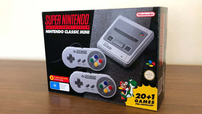 Even the packaging of the Mini SNES is a recreation of the original, but much smaller.
