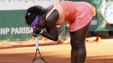 Serena Williams has struggled with illness during her matches.