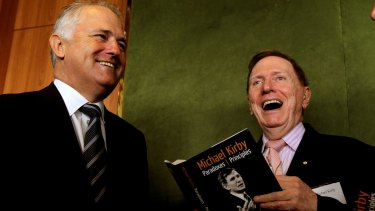 """My friend Malcolm Turnbull was much better in those days"": former High Court judge Michael Kirby, right."