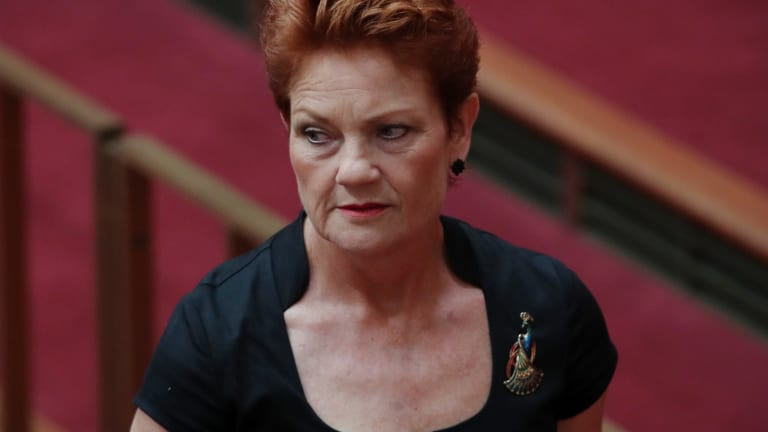 Pauline Hanson: Playing the race card.