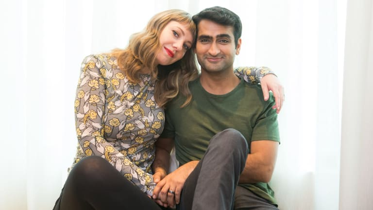 Kumail and Emily, working together and still in love.