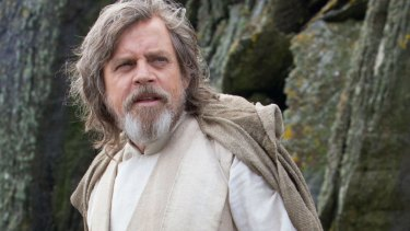 Hamill as Luke Skywalker in Star Wars: The Force Awakens.