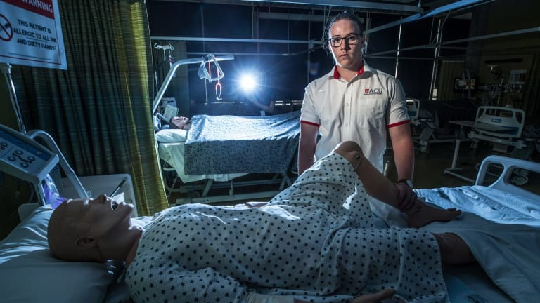 Australian Catholic University nursing student Daniel Robertson hopes to work as a nurse in an emergency department or intensive care unit.