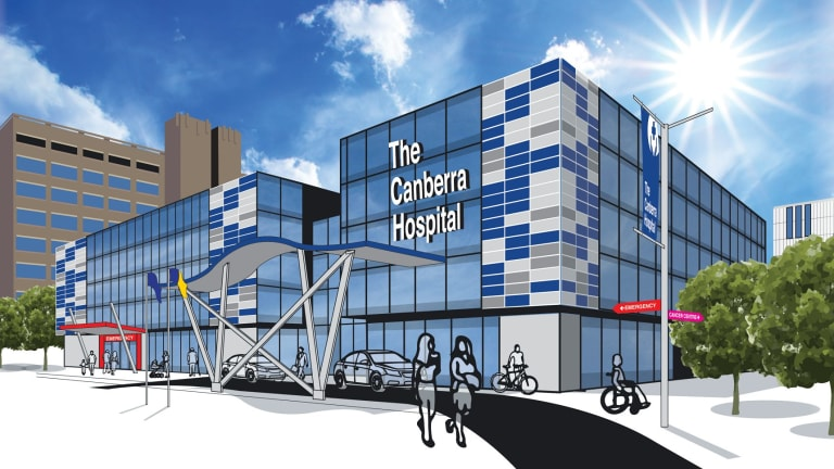 An artist's impressions of the new Canberra Hospital building promised by the Liberals.