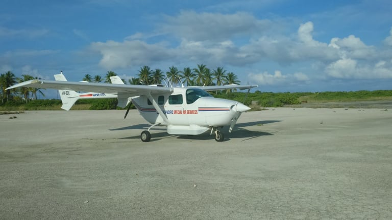 The modified Cessna used in Defence Pacific surveillance patrols.