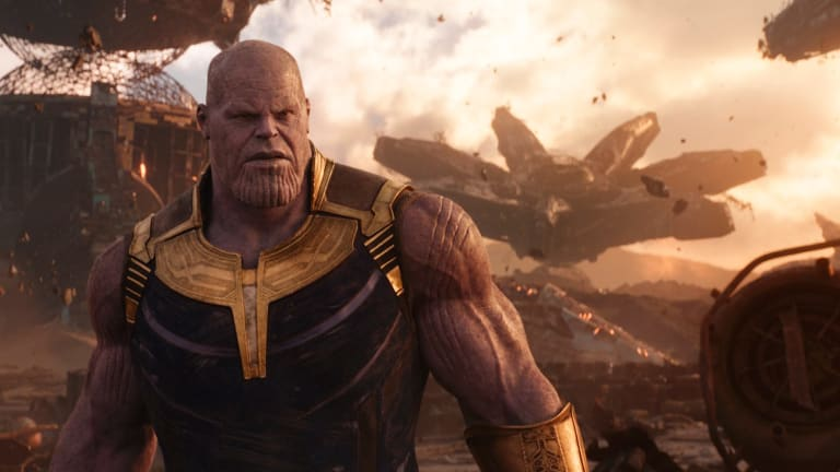 Josh Brolin as Thanos in   Marvel Studios' <i>Avengers: Infinity War</i>.