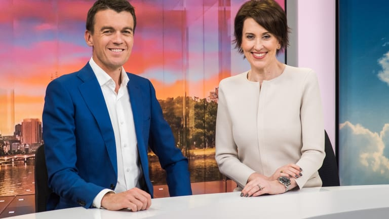 ABC News Breakfast hosts Michael Rowland and Virginia Trioli have increased their audience.
