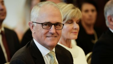 Prime Minister Malcolm Turnbull: still ahead of Shorten on ''likeability''.