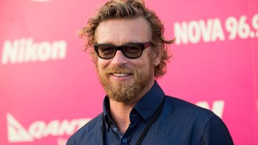 Judge Simon Baker on the red Tropfest carpet.