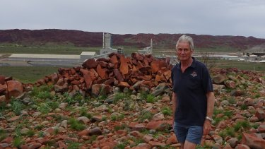Dr John Black, former assistant divisional chief of the CSIRO, on the Burrup Peninsula in July 2016.