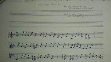 Christina Macpherson receives credit for arranging the melody on this sheet of music.