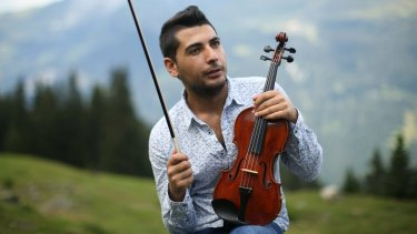 'I used to dream about this when I was a kid': Syrian refugee Rami Basisah in Switzerland.