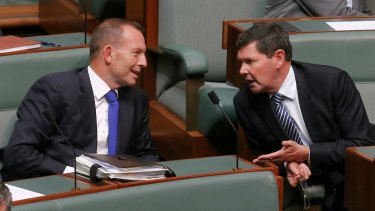 Backbenchers Tony Abbott and Kevin Andrews during question time earlier in the year.