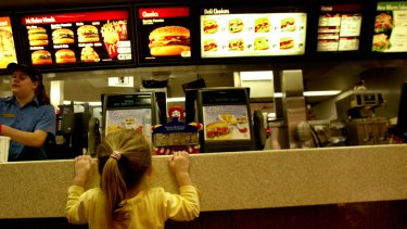 McDonald's new-style menus did not permanently display the same nutritional information that its old ones did.