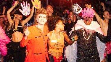 Pauline Pantsdown at the 1999 Gay and Lesbian Mardi Gras in Sydney.