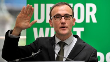 """Greens deputy leader Adam Bandt voted against excluding Senator Rhiannon from party room decisions: """"I genuinely believe excluding people is not the right thing to do."""""""