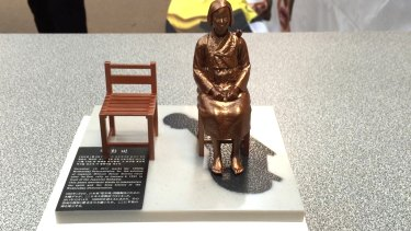"Miniature version of statue for ""Comfort women"" to be unveiled at Korean community hall in Croydon and kept at Uniting Church."
