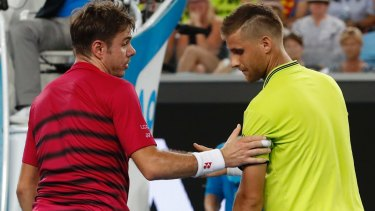 Stan Wawrinka said he thought his opponent was 'OK at the end'.