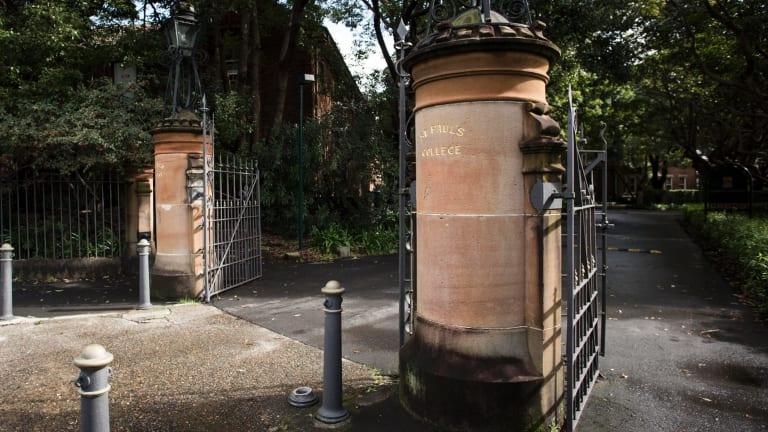 St Paul's College at Sydney University.
